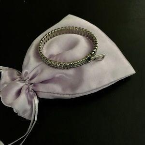 Unique JEWELMINT Silver Zipper Bracelet